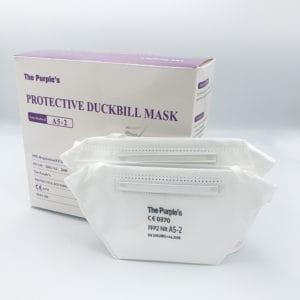 The Purples A5-2 FFP2 Duckbill Mask box ad-medical-supplies